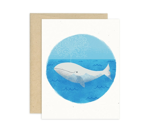 Whale of a Tale Illustrated Greeting Card