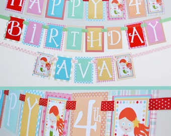 Mermaid Birthday Party Banner Fully Assembled Decorations