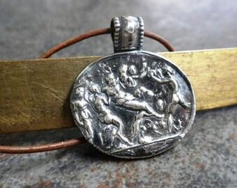 Greek Mythology Jewelry Pendant Dionysus Bacchus Bacchanalia