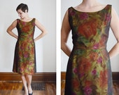 AS IS 1960s Floral Dress and Matching Top - M