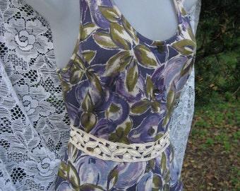 ITALIAN COTTON Laura Ashley dress, rare Italian maxi sun dress, Light Thin fabric Cotton dress, Italian dress, Laura Ashley dress