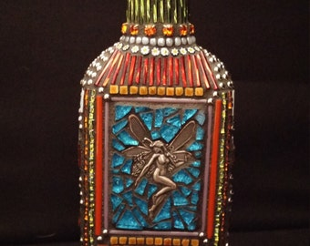 Decorative Mosaic Fairy Bottle