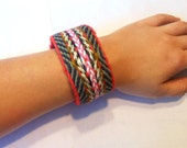 Colorful Tablet Weaving Bracelet