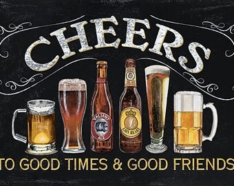 Man Cave, Wood Sign, Wall Decor,Cheers DEW291