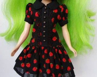 School girl dress - Tiny Strawberries