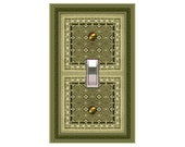 0762b  Green Bkgd  mrs butler switchplates  (Choose size/price from dropdown)
