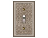0785b  Brown Bkgd Design Switchplate    Mrs butler (choose configuration & price in drop down box)