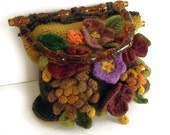Crochet purse, Tote handbag, Tote purse, Purse with flowers, Crochet handbag, Hippie boho purse, Freeform crochet, Fall accessory, Gift