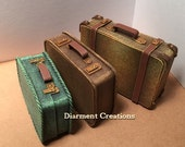 Dollhouse Suitcases 1:12 miniature vintage style