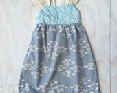 Girl's Dress - Lace Sleeves - Fringe Trim - Modern Girls' DressChildren's Clothing Handmade by bitty bambu