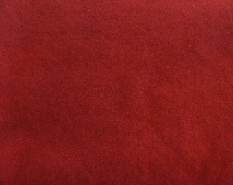 Rustic Red Hand Dyed Felted Wool Fabric Perfect for Wool Applique, Rug Hooking, Quilting by Quilting Acres