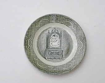 """6 Vintage Old Curiosity Shop Bread and Butter Plates  6 1/4"""""""