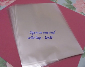 100 6x 9 Open On One End Cello Bags