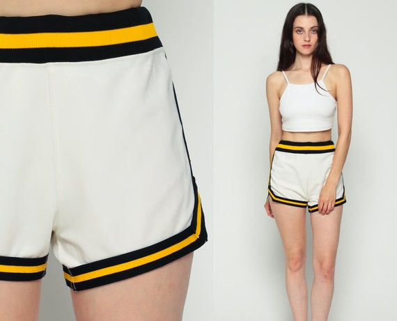 70s Running Shorts Gym Shorts High Waisted Retro Striped