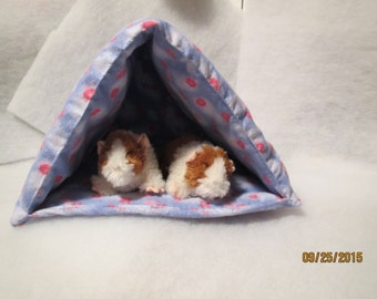 "Tent in Flannel for Guinea Pig or Small Animals 11""L X11""W X 11""H"