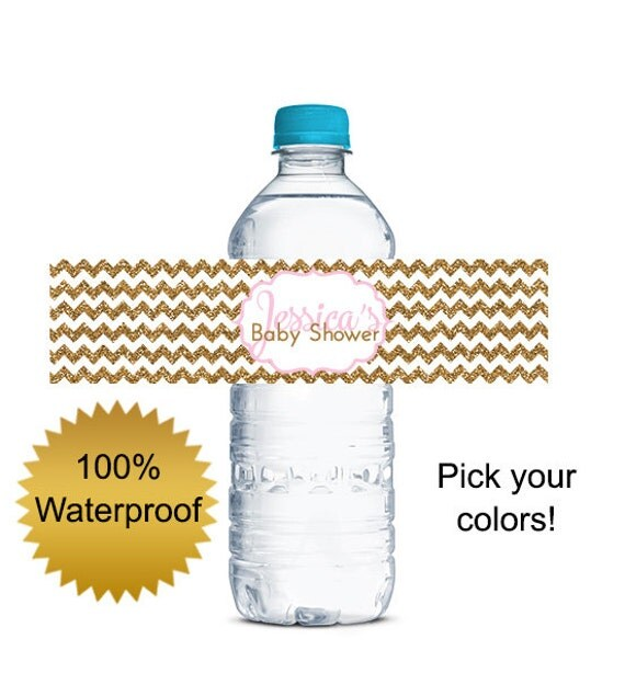 Custom Water Bottle Labels Personalized Baby By