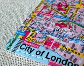 City of London original map luggage tag