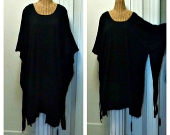 Black Spell Caftan Medium, Large, XL, 1X, Wizard, Witch, Wiccan, Scary Spooky Pegan Custom Midi or Maxi Gothic Unisex Halloween Costume