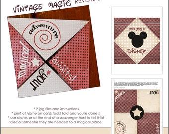 Disney reveal envelope, Disney reveal, Disney envelope