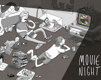 Movie Night Anthology Comic Book German/English Various Artists