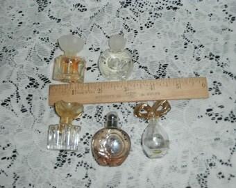 Perfume Mini  Full/ Empty Bottles-of Perfume, Oscar de laRenta-Liz Taylor - Vintage Glass Perfume Bottles