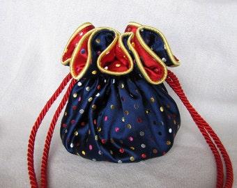 CLOWNING AROUND Luxury Brocade Jewelry Bag- Tote