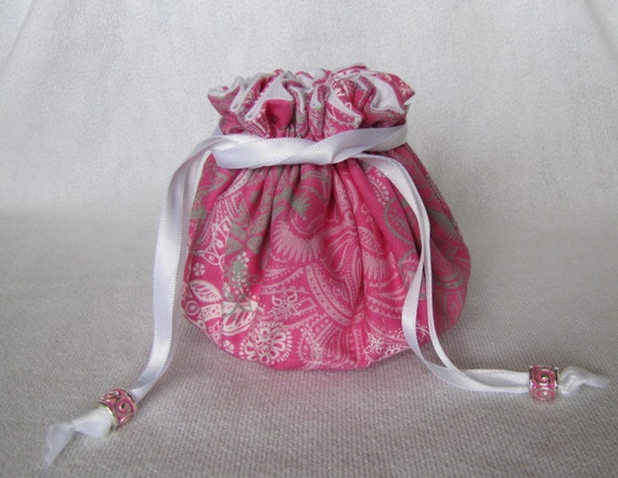 Jewelry bag medium size drawstring jewelry pouch for Drawstring jewelry bag pattern
