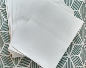 Simple White Photo Envelopes/Sleeves 25 Count