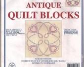 Jack Dempsey Four Hearts Cross Stitch Quilt Blocks Set of 6, 18 X 18 Repackaged Uncut needlework kit Pattern No. 72
