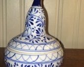 Blue & White Porcelain Pear lidded container