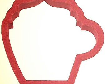 "Coffee or Cocoa Cup cookie cutter, 3.5"" Made in the USA whipped cream cup"