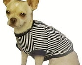 Navy Stripes Dog Shirt - 4 Sizes Available - You will love it or I'll take it back   :0)