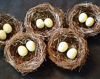 Spring Nest with Eggs - Set of 5