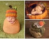 Pumpkin Halloween Newborn Costume Hat Photo Prop Thanksgiving Baby Fall Boy Jack Lantern Girl Beanie READY Ship Going Home Cap Organic Knit