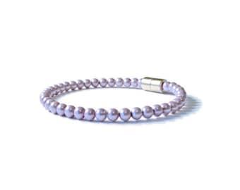 Lavender Magnetic Hematite Bracelet, Holistic Jewelry