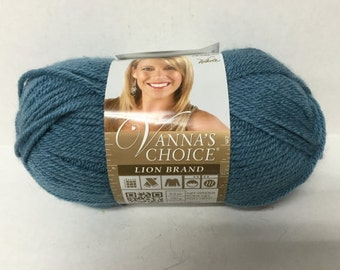 Lion Brand Vanna's Choice Yarn - Dusty Blue - 3.5 oz/100 g