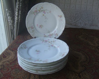 "Theodore Haviland Limoge France 8 "" Luncheon or Dessert Plate Antique 1903 Maker's Mark, ONE of 5 Available, Antique French Porcelain"