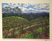 Oil painting // dry creek valley