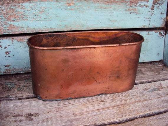 Vintage Copper Smith And Hawken Planter Pot By