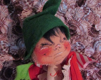Rare Vintage ANNALEE DOLL Christmas Elf Large 18 in Tall 1971
