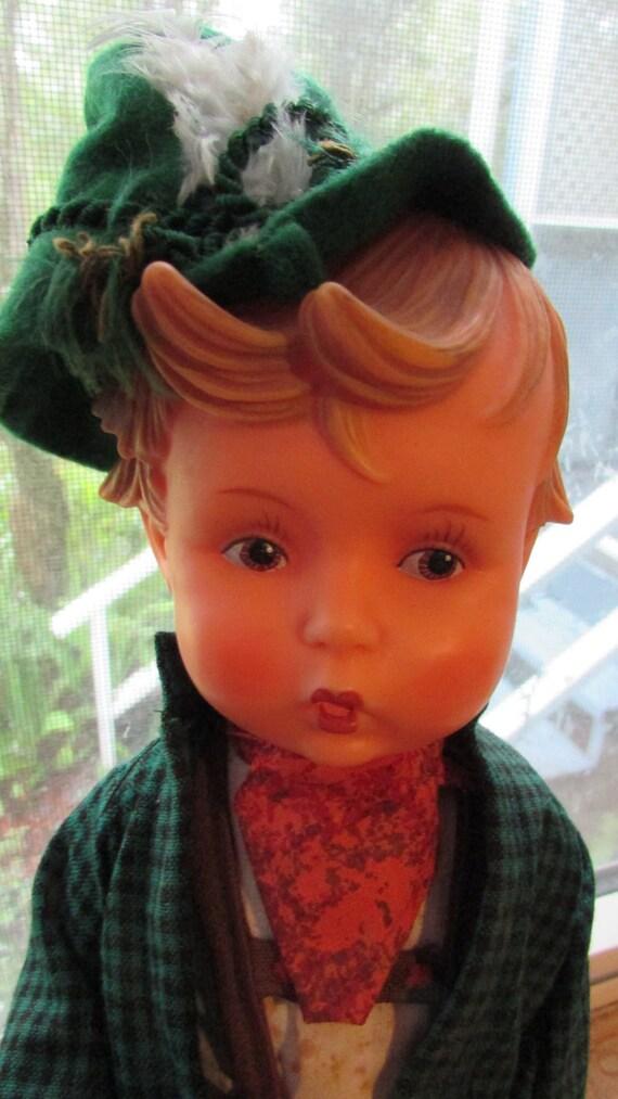 Vintage Hummel Goebel Vinyl Boy Doll Orig Hang Tag