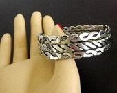 Vintage Silver Cuff Bracelet, Bracelet, Chunky Bracelet, Costume Jewelry, Dressy Jewelry, Casual Jewelry, Casual Bracelet, Retro 1970