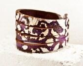 Cyber Monday Sale Jewelry Cuff Bracelet  - Christmas Gift Painted Leather Jewelry - Festival Fashion Bracelets Cuffs Wrist Band - Gift Ideas