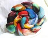 hand dyed soft merino roving 3.8 oz