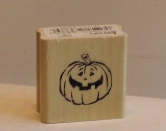 Jack-o-Lantern Pumpkin Rubber Stamp