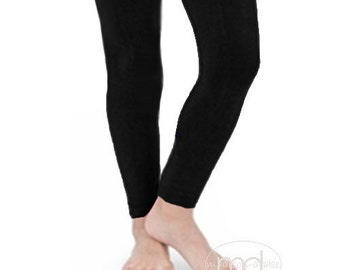 Girls BLACK Nylon Footless  Legging Tights