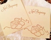 Baby Shower Wish Cards Food Buffet Label Tags Baby Booties Set of 25