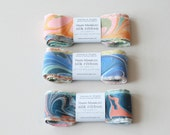 "Marbled Silk Ribbon, 10 Pattern Variety in 28"" Lengths"