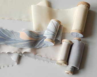 Silk Ribbon Suite in Heather and Apricot