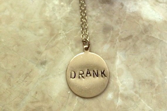 DRANK Engraved Charm Necklace-Kendrick Lamar
